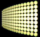 Cloth from set of balls. Set of spheres of yellow color are collected in a cloth. The cloth leaves in a distance. The matrix is illuminated is non-uniform. All Royalty Free Stock Photography