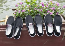Cloth shoes Stock Image