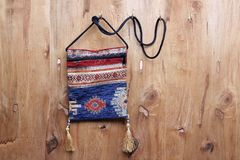 Cloth Sling Bag Stock Image