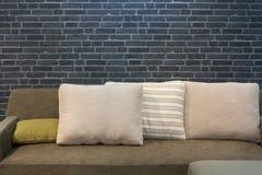 Cloth sofa and cushions Royalty Free Stock Image