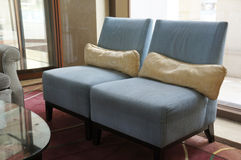 Cloth sofas. In hotal lobby Royalty Free Stock Image