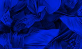 Blue silk Stock Image