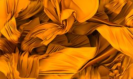 Gold silk Royalty Free Stock Image