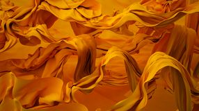 Gold silk Royalty Free Stock Photography
