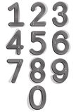 Cloth style numbers with seams and buttons. Stock Photos
