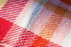 Cloth tablecloth background for pic-nic. With warm colors stock images