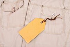Cloth with tag Stock Photos