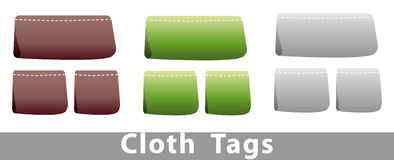 Cloth tags Royalty Free Stock Image