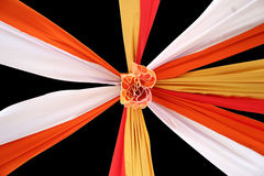 Cloth tapestries. Celebration ceiling cloth tapestries Royalty Free Stock Images