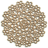 Cloth, Tatted Lace Doily. A small tatted lace doily Royalty Free Stock Photography