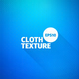 Cloth texture. Vector blue fabric background. Cotton pattern. For web Stock Photography