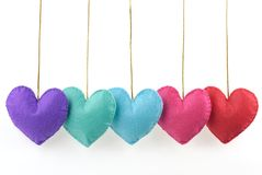 Cloth textured heart Stock Photography
