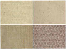 Cloth textures set Royalty Free Stock Image