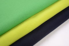 Cloth with three different colors made by cotton fiber Stock Photography