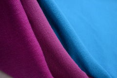 Cloth with three different colors made by cotton fiber Royalty Free Stock Photography