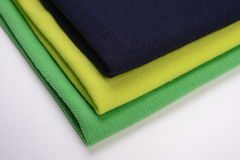 Cloth with three different colors made by cotton fiber Royalty Free Stock Image