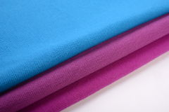 Cloth with three different colors made by cotton fiber Royalty Free Stock Images