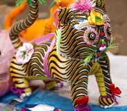Cloth tiger toy Royalty Free Stock Photography
