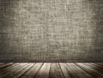 Cloth wall and wooden floor in a grunge style Royalty Free Stock Photo