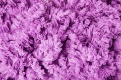 Cloth Waves Background, Pink Fabric Waves, Lilac Frill Texture. Cloth Waves Background, Pink Fabric Waves, Frill Flounce Lilac Wave Texture Royalty Free Stock Images