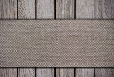 Cloth on wood backgrounds Royalty Free Stock Photography