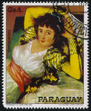 The Clothed Maja by Francisco de Goya Royalty Free Stock Photography
