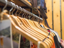Clothed rack for display Royalty Free Stock Image