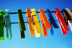 clothepins kolorowi Zdjęcie Stock