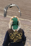 clother człowiek kazachskie tradycyjne Obrazy Stock