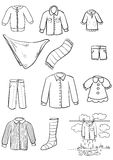 Clothes. Large set of diverse clothing Royalty Free Stock Image