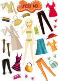 Clothes. Vector illustration of a clothes set Stock Photography