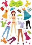 Clothes. Vector illustration of a clothes set Stock Photos