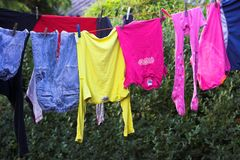 Clothes. It's a photo of clothes Royalty Free Stock Photos