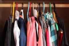 The clothes. Weigh on a hanger Stock Photos