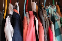 The clothes. Weigh on a hanger Stock Images
