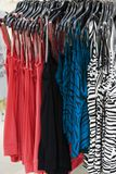 Clothes. Female clothes on the rack Stock Photo
