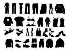 Clothes. Illustration of clothes... vector clothes Stock Photography