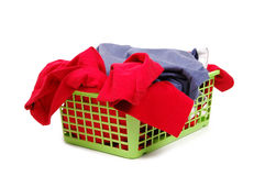 Clothes. In the green basket Royalty Free Stock Photography
