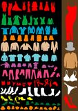 Clothes. Silhouette of clothes isolated on black Royalty Free Stock Photography