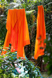 Clothes. Monks clothes hanged in wat phra singh Royalty Free Stock Photography