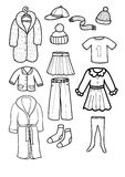Clothes. Set from various children clothes Stock Photo