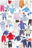Clothes and accessories for children Royalty Free Stock Image