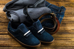 Clothes and accessories Stock Images
