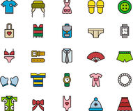 Clothes and accessories icon set Royalty Free Stock Photo