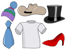 Clothes and accessories Royalty Free Stock Images