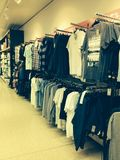Clothes aisle Stock Images
