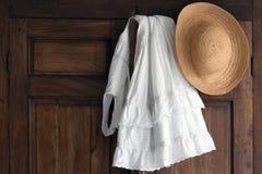 Clothes on antique closet Royalty Free Stock Photos