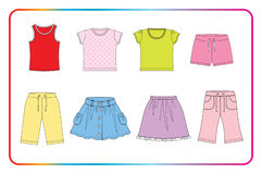 Clothes for baby Stock Images