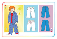 Clothes for baby boys Stock Images