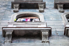 Clothes on balcony Royalty Free Stock Images